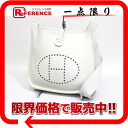 "1 HERMES ""Ebb phosphorus"" PM shoulder bag avian Yong Clement's white silver metal fittings I 刻 》 for 《"