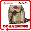Burberry check rucksack beige X brown 》 for 《