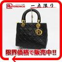 Dior lady dior lambskin handbag black 》 for 《