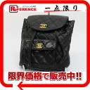 CHANEL lambskin matelasse rucksack black 》 for 《
