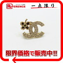 "Like Chanel 05P rhinestone CC brooch gold new ""support."""