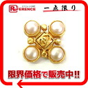 "Chanel 97A faux Pearl brooch gold ""response."""