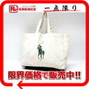 Polo Ralph Lauren Eco bag tote bag natural X green 》 02P05Apr14M for 《