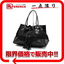 Plastic Date soot software tote bag nylon X leather black BR3555 》 for 《