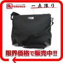 "Gucci nylon shoulder bag black 257010 like new ""response.""-02P05Apr14M"