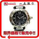 Cartier pasha do Cartier sea timer men watch SS black rubber self-winding watch 》 for 《