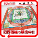 "HERMES silk scarf ""boyfriend"" FEUX D'ARTIFICE( fireworks) orange X white system 》 for 《"