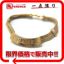 CHANEL 98P logo plate bracelet gold 》 for 《
