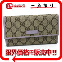 "Gucci JOY (joy) GG plus trifold wallet beige x Lavender 190336 like new ""support."""