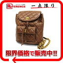 CHANEL lambskin matelasse rucksack brown 》 for 《