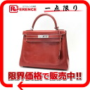 "Boxcalf brick silver metal fittings L 刻 》 with the sewing shoulder strap in 28 HERMES ""Kelly"" handbags for 《"