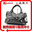"BALENCIAGA editors bag ""the giant city"" gray system silver metal fittings 173084 》 for 《"
