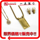 NINA RICCI GIVENCHY Givenchy in 2000s necklace & earrings Nina Ricci necklace 3-point set gold used