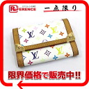 "Louis Vuitton monogram multicolored ""Porto Monet plastic"" coin case Bronn (white) M92657 》 02P05Apr14M for 《"