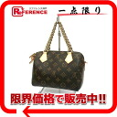 "Louis Vuitton Monogram fall winter 2013 ""and speedy chain 20"" unused handbag with shoulder strap M40988 02P05Apr14M ""enabled."""
