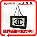 CHANEL CC vinyl chain tote bag black X clear 》 for 《