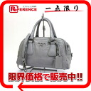 PRADA leather 2WAY handbag gray 》 for 《