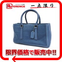 9428 coach linen canvas X leather tote bag blue 《 correspondence 》