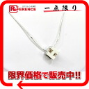 エルメスカージュアッシュ H cube pendant necklace white system / silver metal fittings 》 for 《