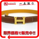 "Hermes mini H belt reversible 60 クシュベル × クシュベル gold × yellow Z ever-changing beauty products ""enabled."""