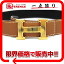 "Hermes H reversible belt slope 65 x Gold Bock scarf x black D time ""response."""