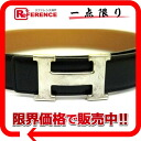 60 HERMES H belt reversible boxcalf X boxcalf black X gold Z 刻 》 for 《