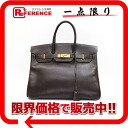 "35 HERMES highest peak handbag ""Birkin"" クシュベルダークブラウンゴールド metal fittings C 刻 》 for 《"