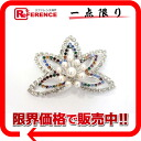 》 for 《 as well as a flower motif broach rhinestone fake pearl silver new article