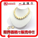 Ivory-maru ball necklace & earrings set 》 for 《