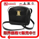 フェラガモヴァラリザード type push leather shoulder bag black 》 for 《