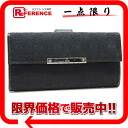 "Gucci METAL BAR (メタルバー) GG W hook length wallet black 112715 like new ""support."""