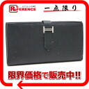 "Two fold long wallet Epson black silver metal fittings J 刻 》 02P05Apr14M with the HERMES ""ベアンスフレ"" gusset for 《"