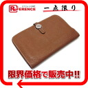 "Hermes 2 fold wallet ""Dogon GM"" coin purse with slope gold silver bracket H engraved ""response."""