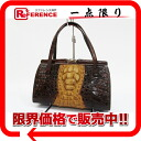 》 02P05Apr14M of caiman handbag Brown line for 《