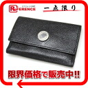 Six BVLGARI classical music grain leather key case black 20234 》 for 《