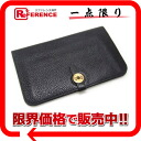 "Avian Yong Clement's black gold metal fittings Z 刻美品 》 with the HERMES ""ドゴン GM"" two fold long wallet coin case for 《"