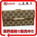 Gucci METAL BAR( metal bar) GG W hook long wallet beige X bronze system 112715 》 for 《