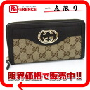 Gucci SUKEY( Sioux key) GG round fastener long wallet beige X dark brown 291132 》 for 《