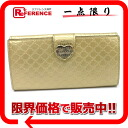 Gucci HEART( heart) shiny microGG leather W hook long wallet gold 203550 》 for 《