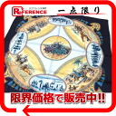 "Beautiful article 》 of jockey) navy of the HERMES silk scarf ""boyfriend"" CAVALIERS PEULS( swimming pool group origin for 《"