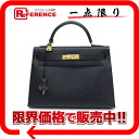 "クシュベルネイビーゴールド metal fittings T 刻 》 with the HERMES handbag ""Kelly 32 sewing shoulder strap out of"" for 《"
