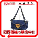 PRADA denim chain shoulder bag blue BR4659 beauty product 》 for 《