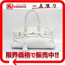 "HERMES highest peak bag ""shoulder Birkin"" avian Yong Clement's white silver metal fittings J 刻 》 for 《"