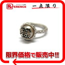 CHANEL 02C CC rhinestone ring silver 》 for 《