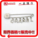 CHANEL 01P rhinestone pin broach silver 》 02P02Aug14 for 《