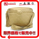 Beige 》 with the CHANEL leather quilting shoulder bag fringe for 《