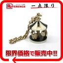 CHANEL 08A merry-go-round key ring black / white / gold 》 for 《