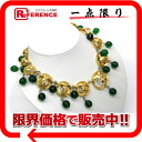 CHANEL CC pendant necklace gold X green 》 for 《