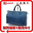 "30 ルイヴィトンエピ ""speedy"" mini-Boston handbag Toledo blue M43005 》 for 《"