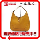 "Gold metal fittings old P 刻 》 of 31 HERMES ""trim"" shoulder bag full skipper Brown line for 《"
